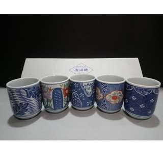 有田燒清秀窯 5件日本茶杯套裝 Japanese Ceramic Cup Set 5Pcs