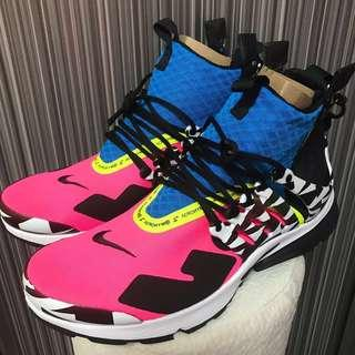 (In Stock) US8 10 Nike x Acronym Air Presto Mid Racer Pink