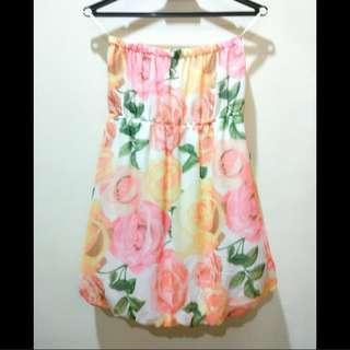Japan rose bubble summer dress #MMAR18