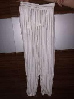 stripe pants celana formal garis garis