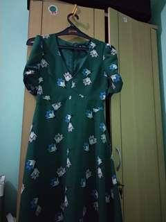 Miss Selfridge minidress hijau tosca