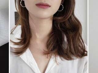 Brand New D'happy Makers Pave twist Silver Medium Hoop Earrings