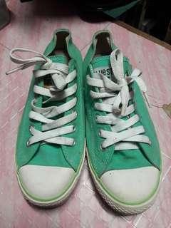Mint blue shoes