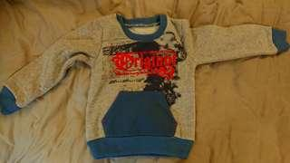 男童刷毛口袋上衣(1-3歲/灰)