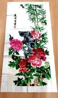 Home decor, design & craft, embroidery chinese peony