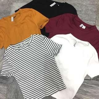 BNWOT H&M Ribbed Cotton Top