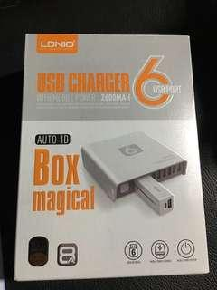 USB charger 6 port