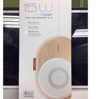 【PROBOX】北歐風 15W 木質無線充電板(白色)