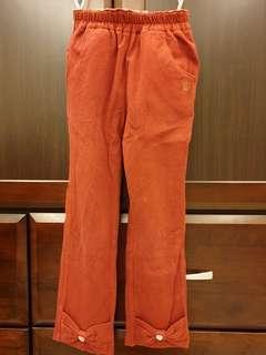🚚 經典泰迪蝴蝶結純棉長褲(110cm)