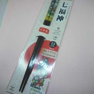 Daiso japan chopsticks sumpit lucky fortune natural wood acryl coating