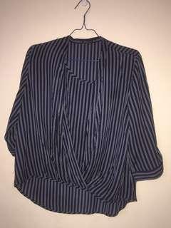 #maudompet navy stripe top