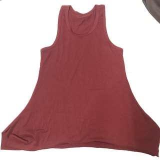 Simple dress maroon