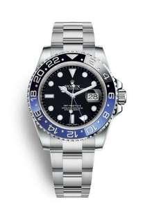 WTB Rolex BATMAN GMT-Master II 116710BLNR