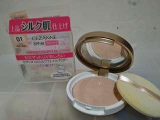 cezanne UV silk face powder 高防曬粉餅