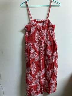 🚚 碎花排扣洋裝