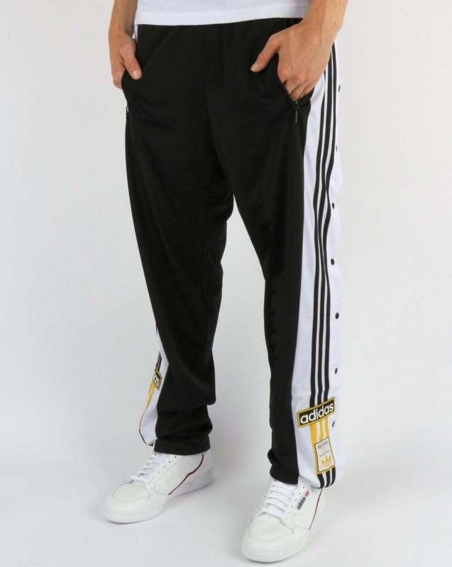7b2552d0ff8 Adidas Black/White Popper Pants, Men's Fashion, Clothes, Bottoms on ...