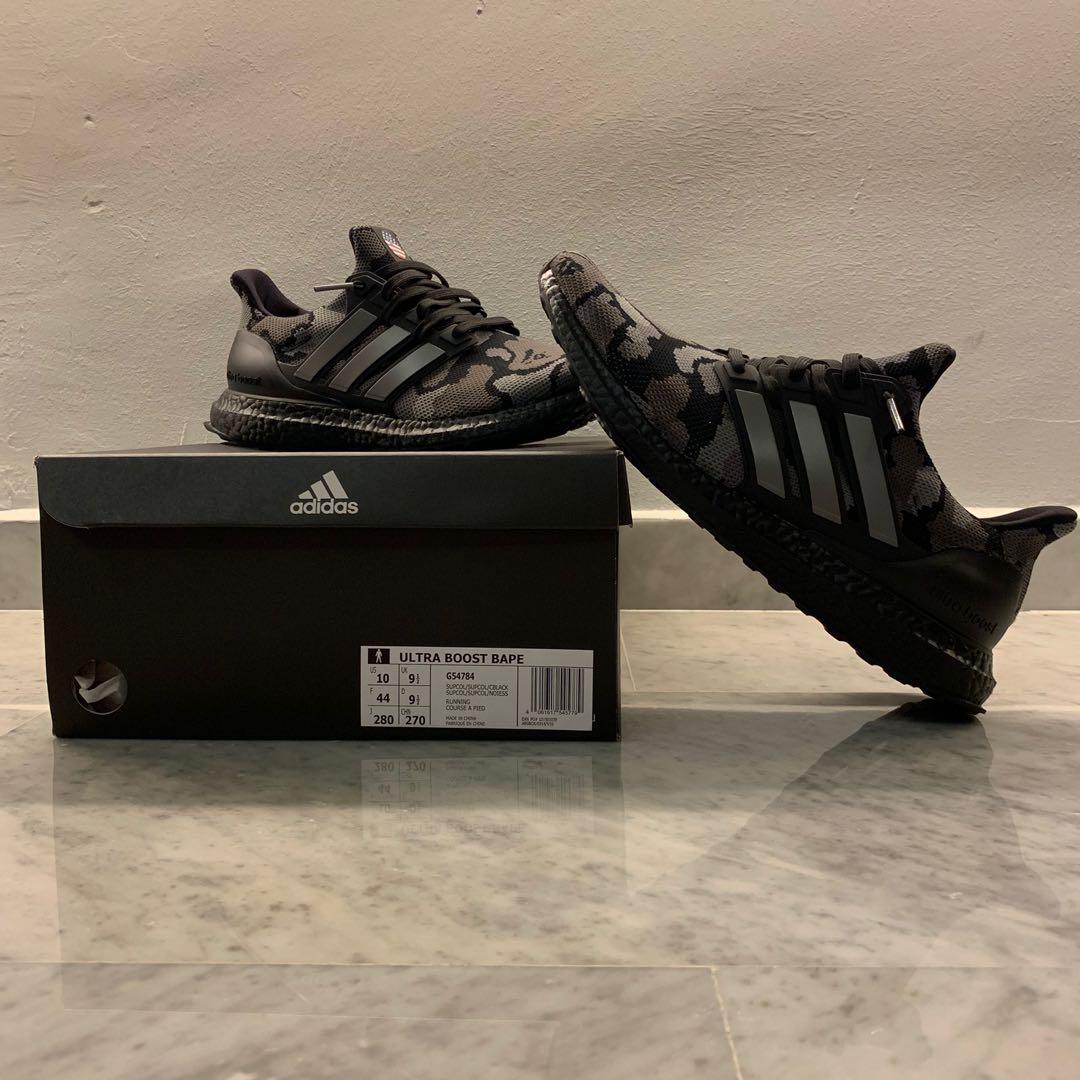 newest c230b 96801 Adidas X Bape Ultraboost Black Camo, Mens Fashion, Footwear