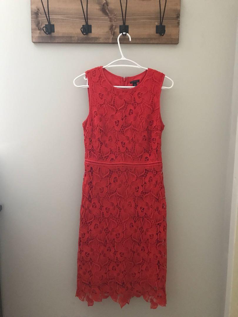 Ann Taylor Poppy Lace Dress - 0
