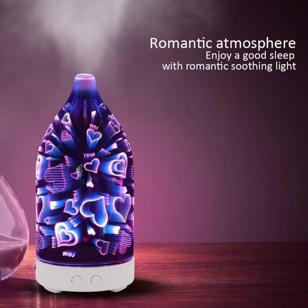 Aroma Diffuser Essential Oil with LED Light 100ml (Lovia)