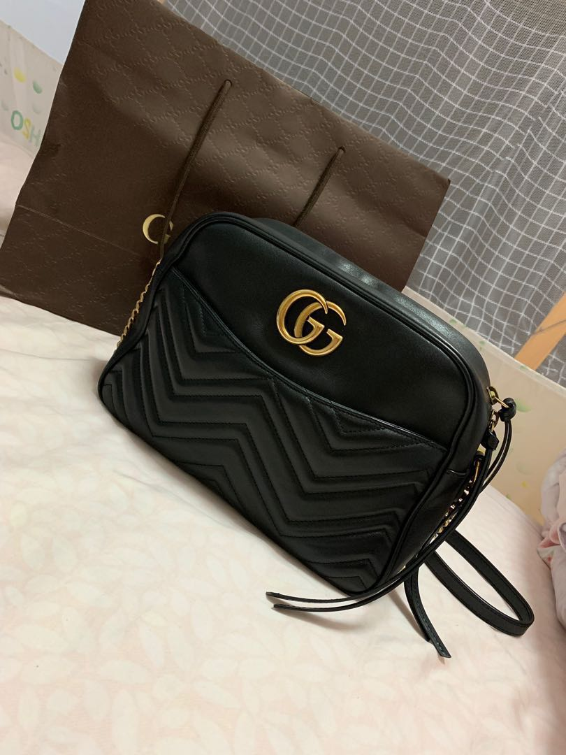 dafa96db2b38 Authentic GG Marmont Medium Matelasse Shoulder Bag, Luxury, Bags ...