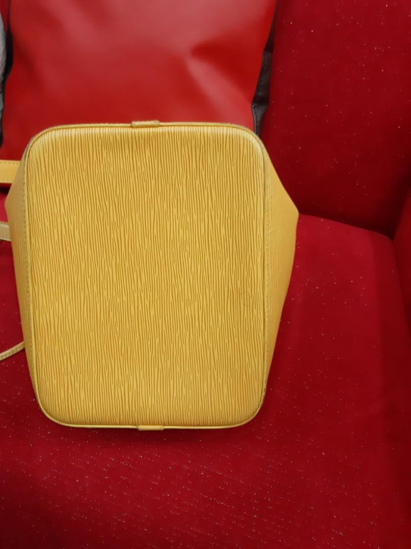 AUTHENTIC LOUIS VUITTON EPI LEATHER PETIT NOE SHOULDER BAG - YELLOW COLOUR - CLEAN INTERIOR,  OVERALL GOOD (NOW RETAIL AROUND RM 9000+) - RM 1250 ONLY