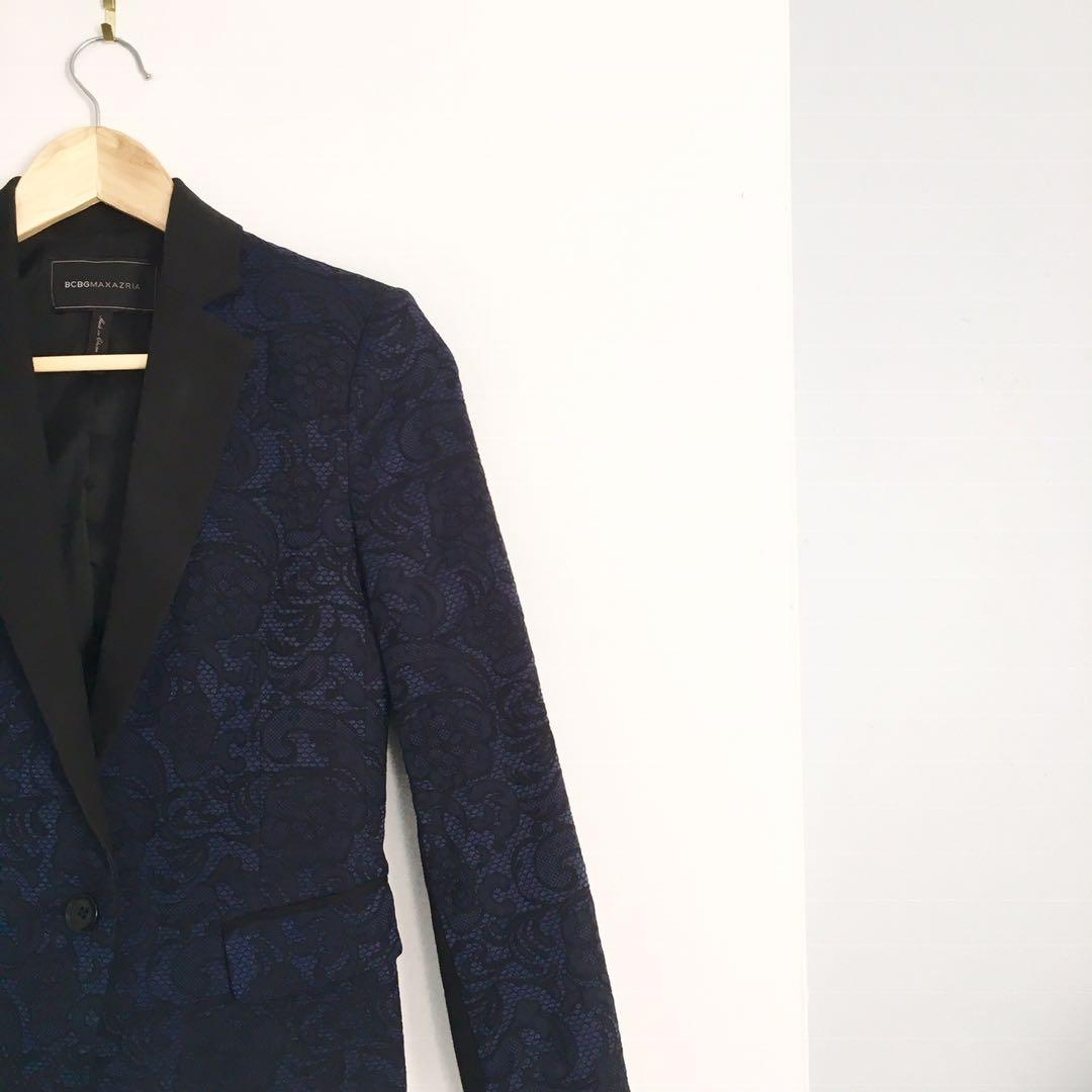 BCBG blazer navy and black
