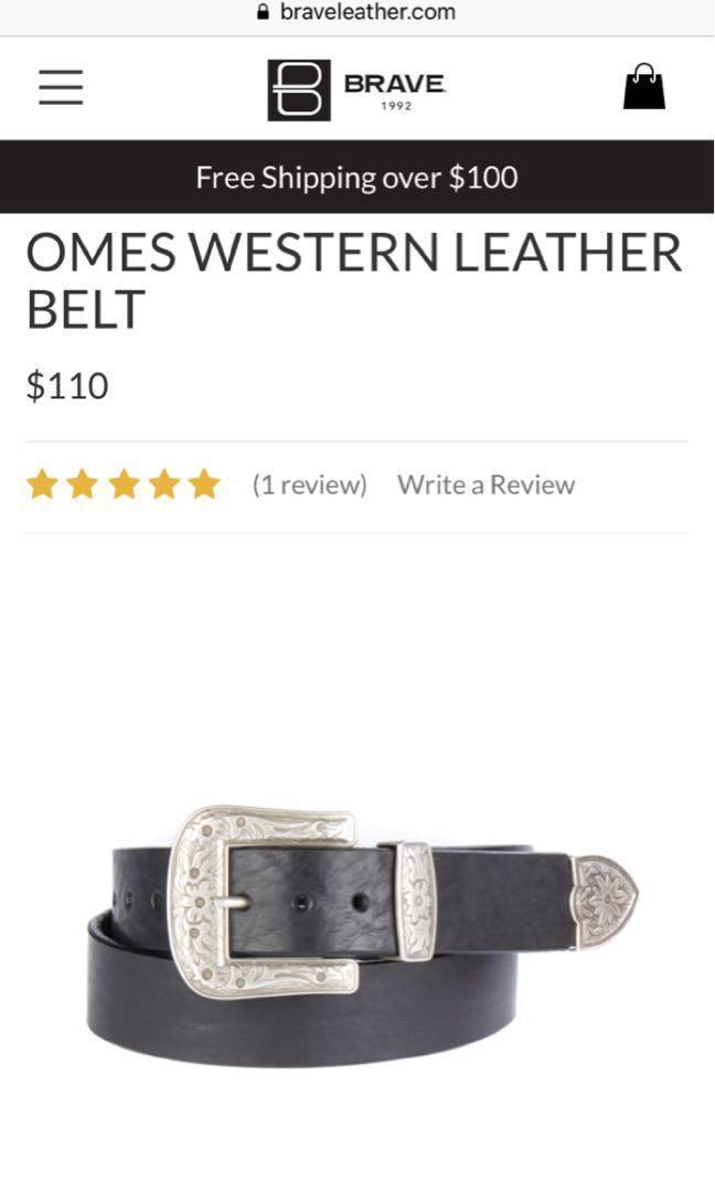 BN Brave Leather Omes Western Belt