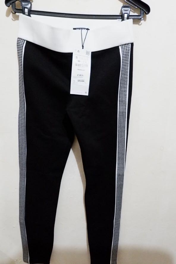 Celana Legging Zara Original And New Fesyen Wanita Pakaian Wanita Bawahan Di Carousell