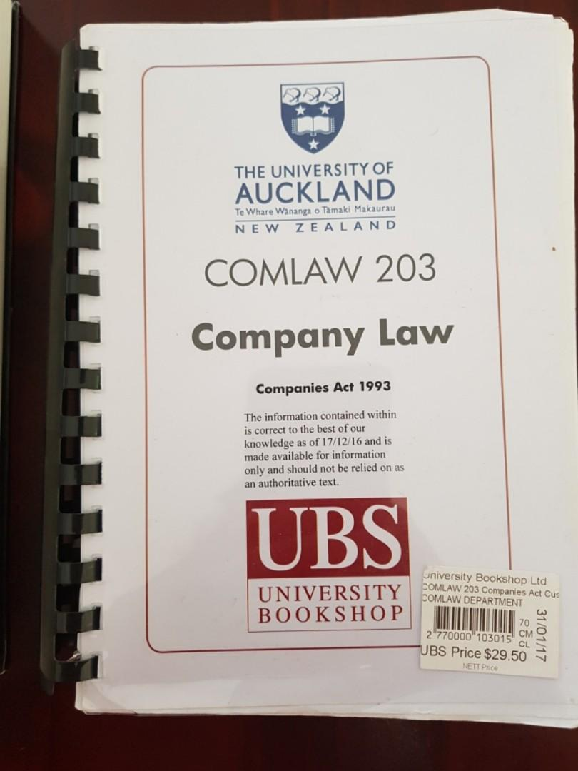COMLAW 203 TEXTBOOKS