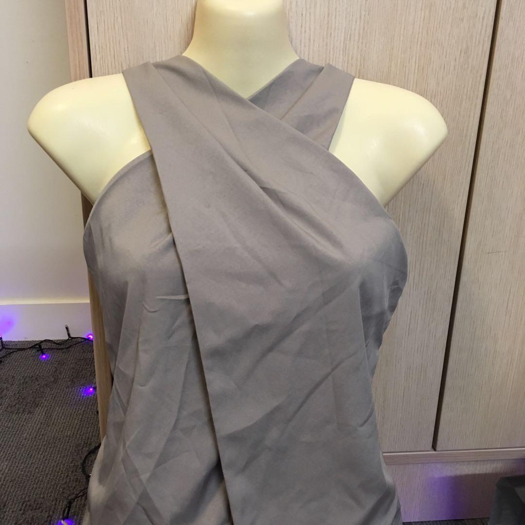 Crisscross top - grey
