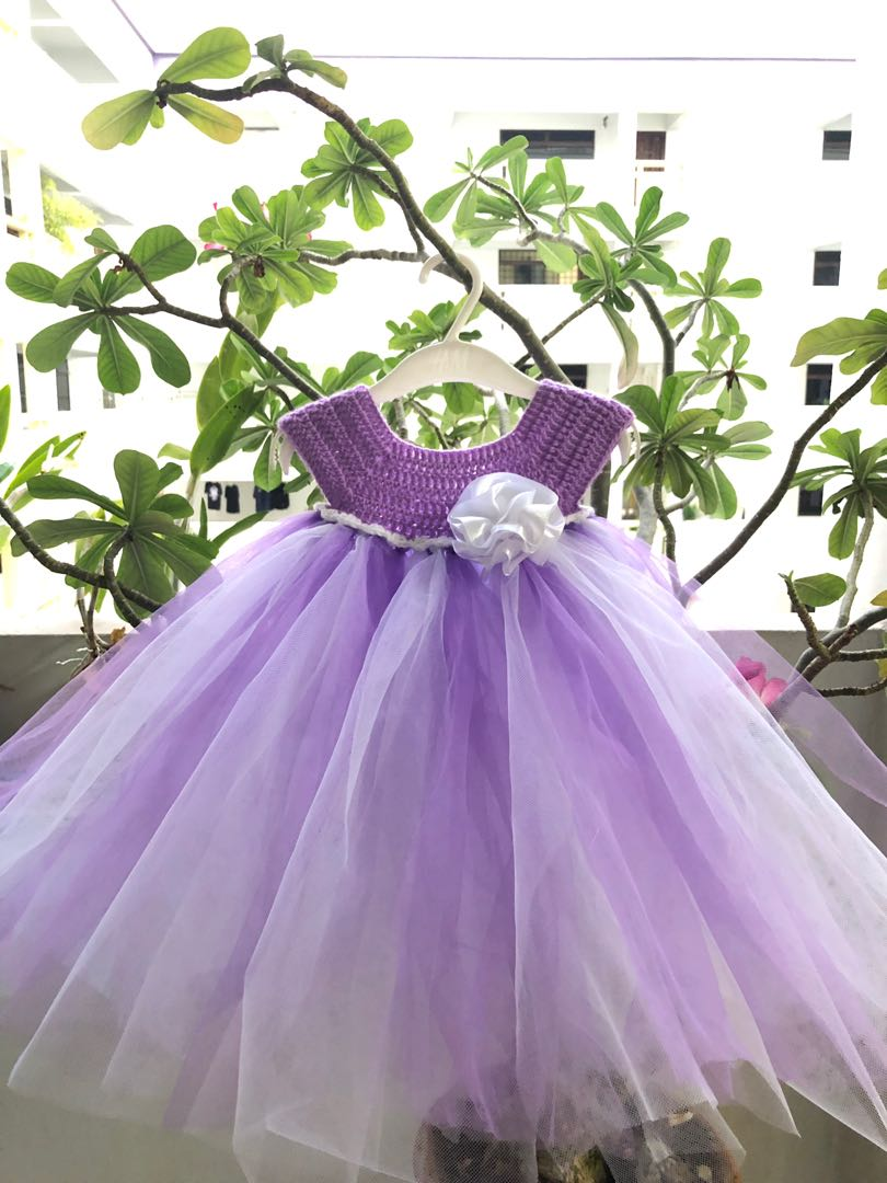 Crochet Tutu Dress Set Babies Kids Girls Apparel 1 To 3 Years