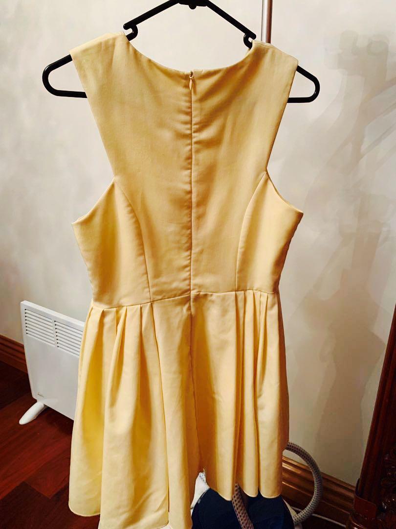 Dress size 10 - lemon yellow pastel yellow - size small size 8 size 10
