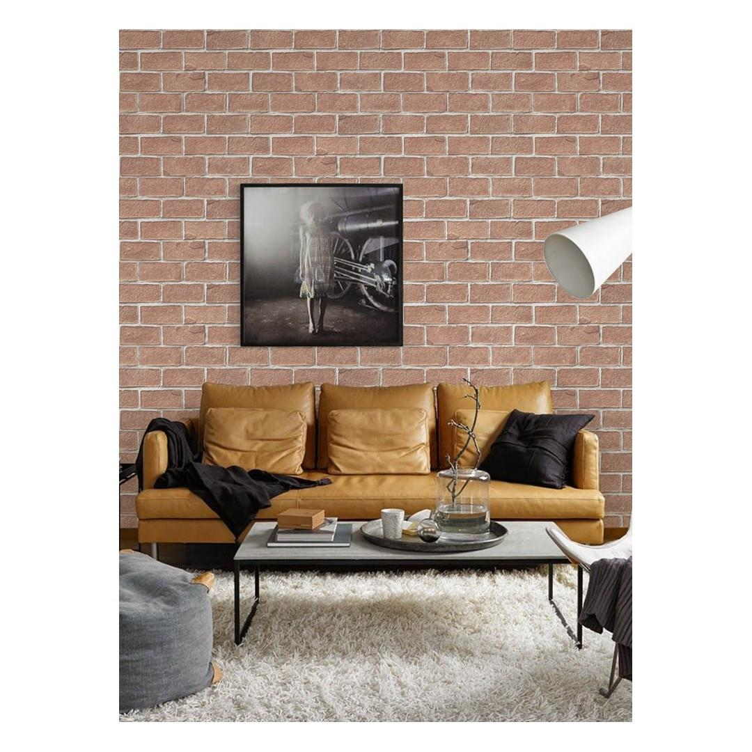 English Brick Water Adhesive Wallpaper Living Room Kitchen