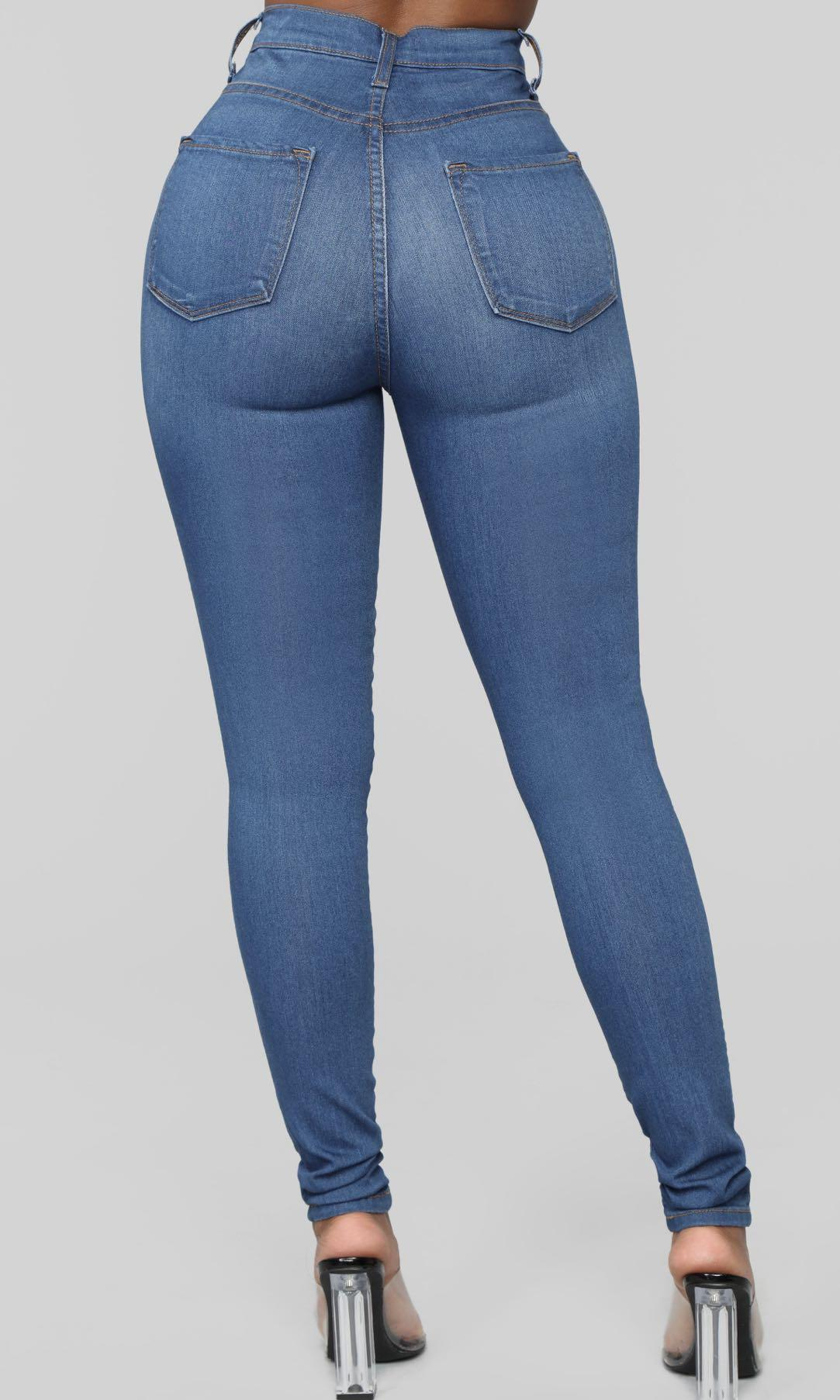 Fashion Nova Classic high waist skinny jeans - medium wash blue