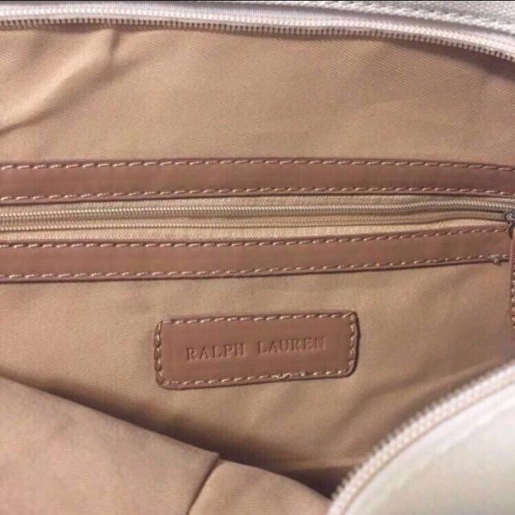 😆FREE SHIPPING* under 500g😆Authentic Classic Design Polo Ralph Lauren Canvas Ladies Shoulder  tote bag