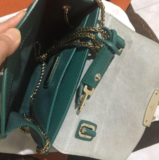 Furla miniapolis malachite handle