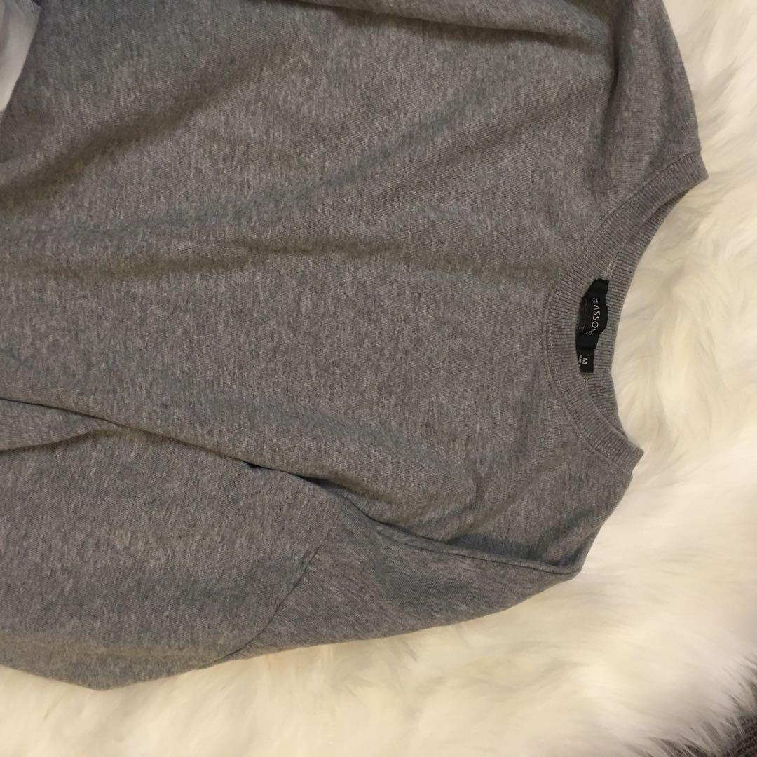 Glassons Grey wide sleeve throwover