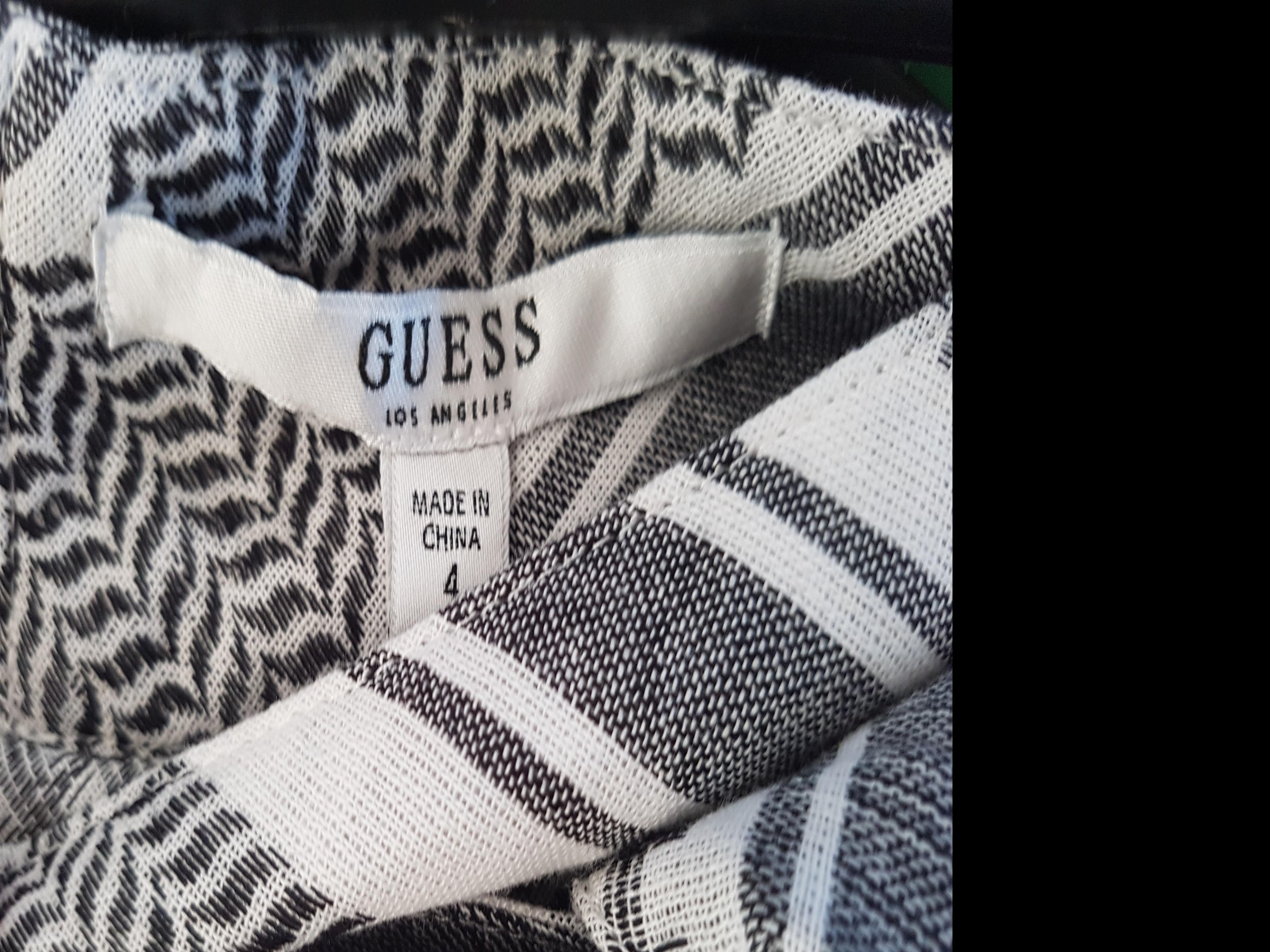 Guess Asymmetrical Check Mini Tie Skirt size 10 US 4