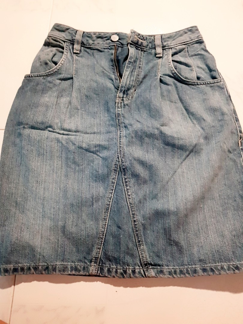wide selection 100% quality cheapest Guess denim skirt