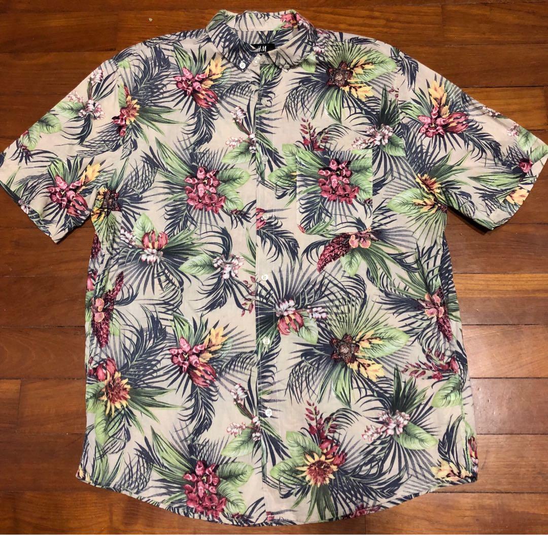 dc0ba05f H&M Hawaiian Shirt, Men's Fashion, Clothes, Tops on Carousell