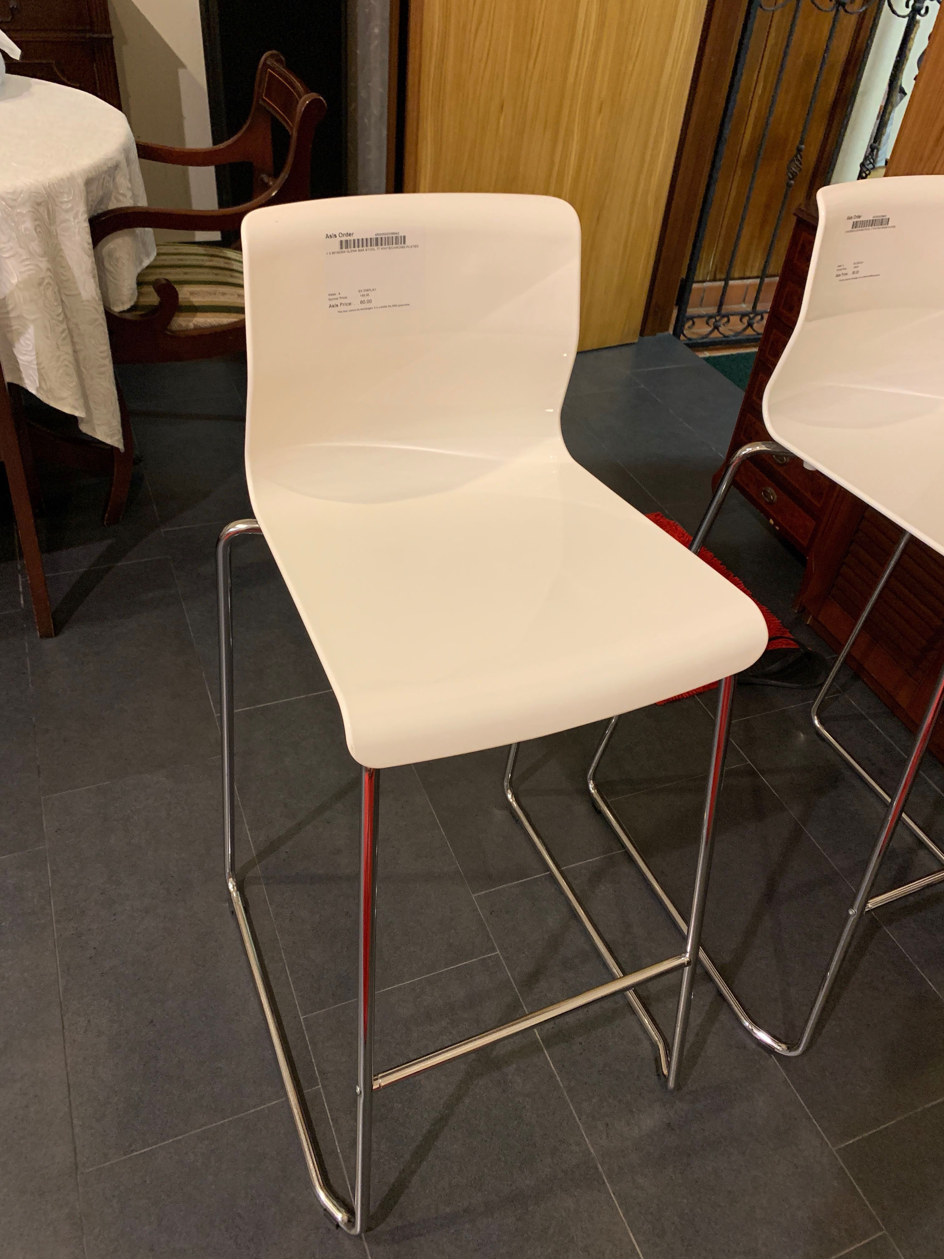 Wondrous Ikea Glenn Bar Stool White Chrome Plated Furniture Tables Gmtry Best Dining Table And Chair Ideas Images Gmtryco