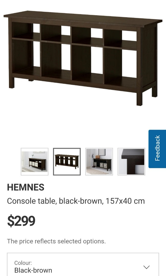 Ikea Hemnes Console Table Furniture Shelves Drawers On Carousell