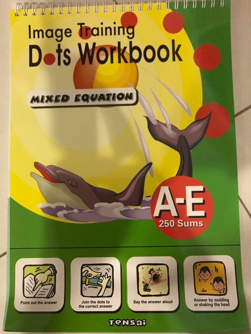 Image training dots workbook from TENSAI - pack of 4 books - shichida method