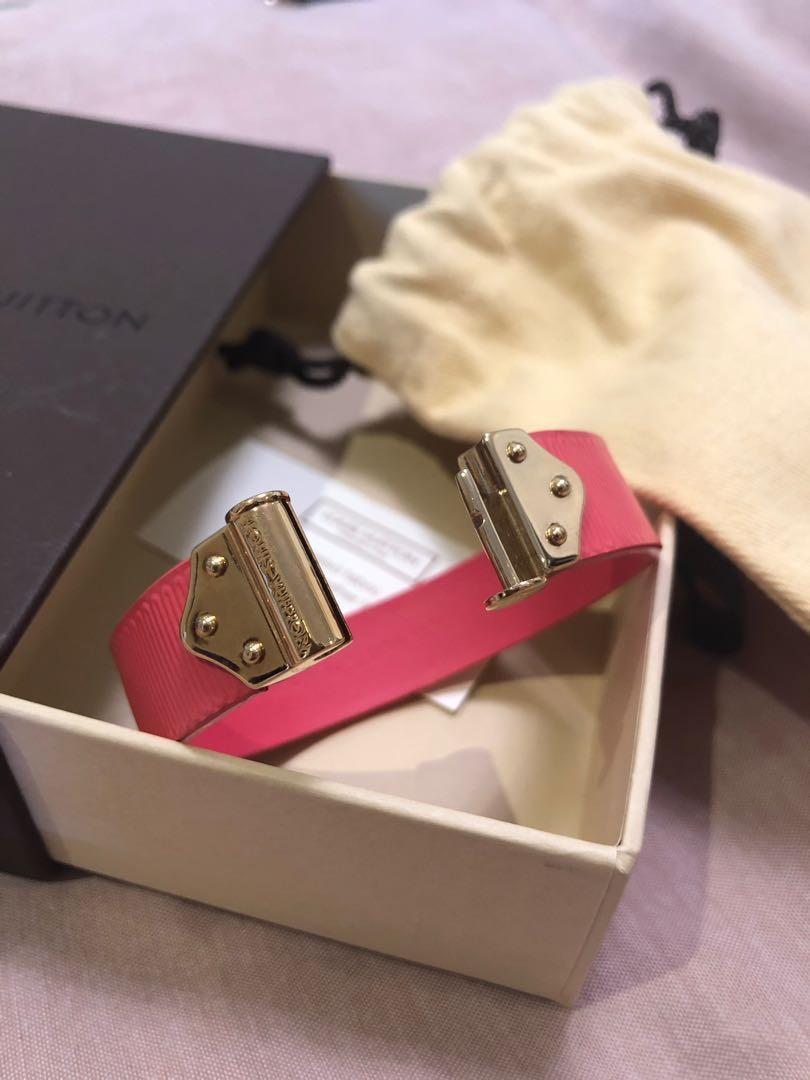 Louis Vuitton Pink Leather Bracelet