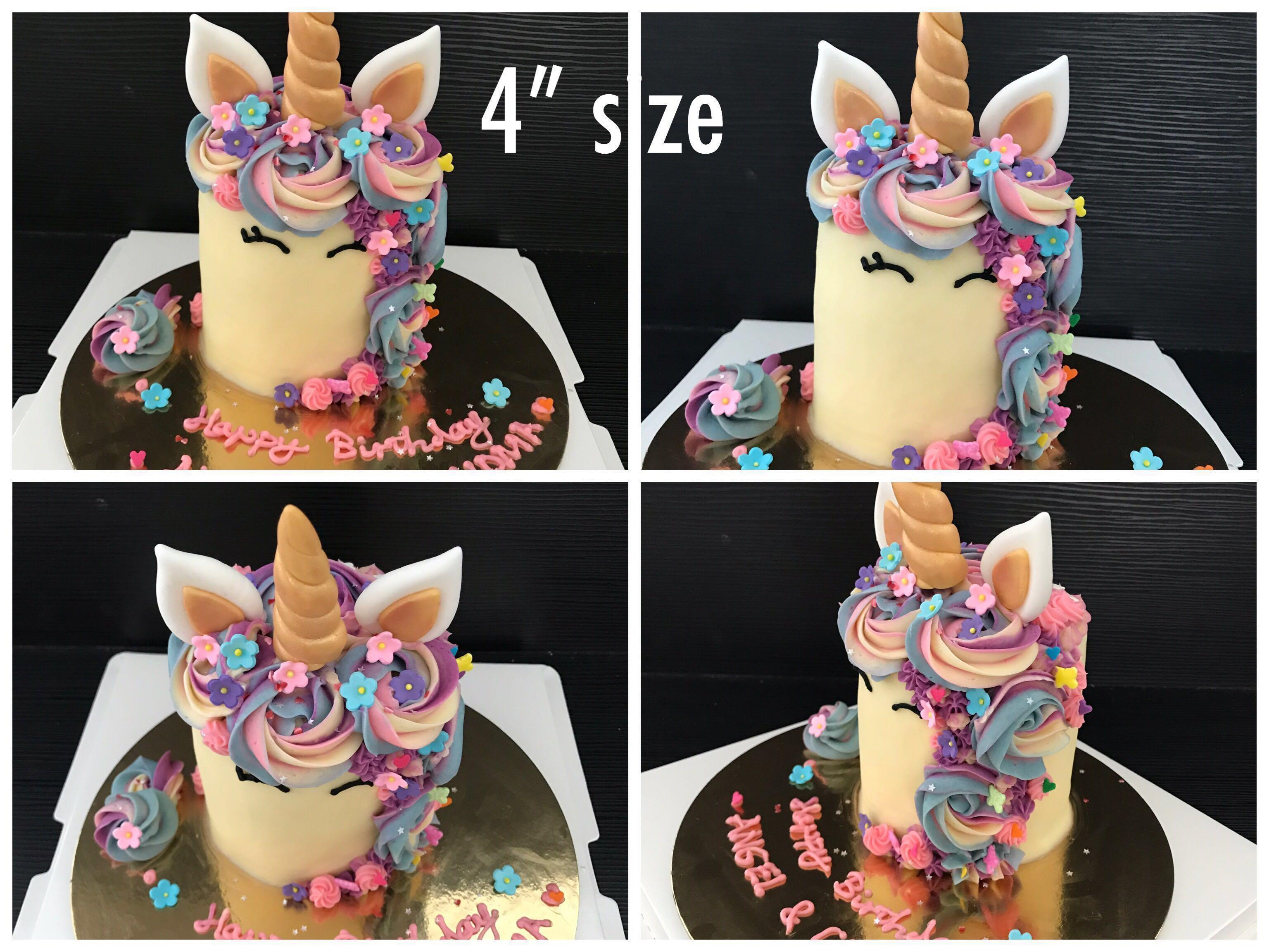 Magical Unicorn Cake / cupcakes  (various sizes with price details)