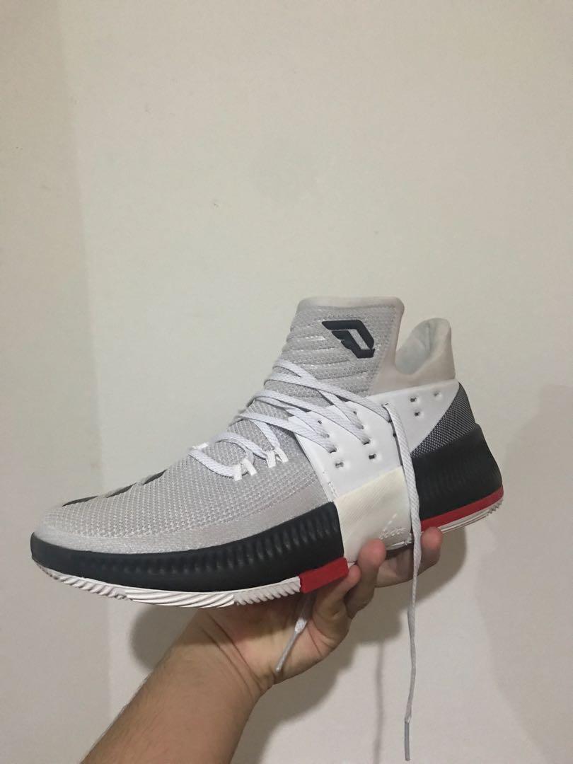 online retailer 36687 19272 Men s adidas Dame 3 Rip City Damian Lillard White Basketball Shoes Bb8268  Sz 10, Fesyen Lelaki, Kasut Lelaki, Sneakers di Carousell