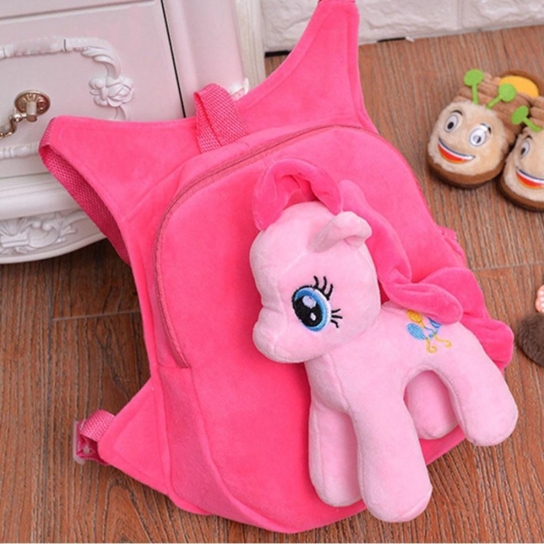 My Little Pony Cartoon Kids School Bag Children Backpack Kindergarten Soft Toy Pony Bags