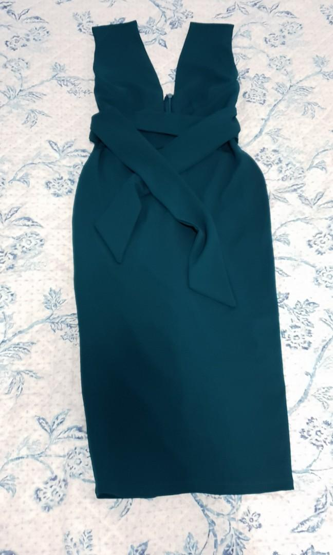 Nookie teal dress brand new without tags M