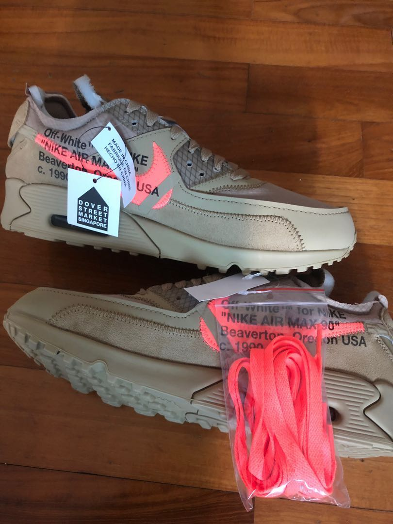 ffb1bfba Off White x Nike Air Max 90, Men's Fashion, Footwear, Sneakers on ...