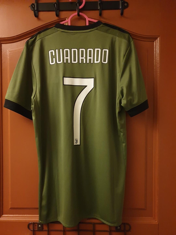 f06632c41 Official Adidas Climacool Juventus 17 18 Third Kit  CUADRADO 7 ...
